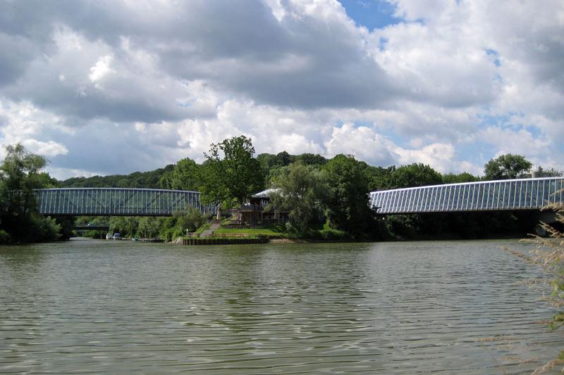Zusammenfluss von Neckar und Rems