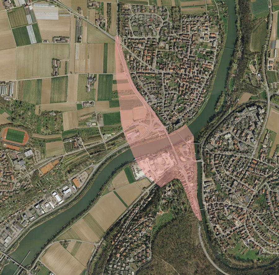 Umfang des Planungsgebiets Neue Mitte Remseck