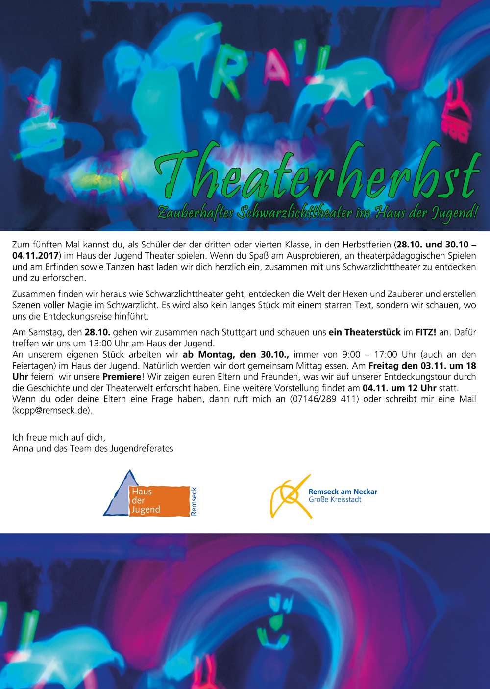 Flyer Theaterherbst Info