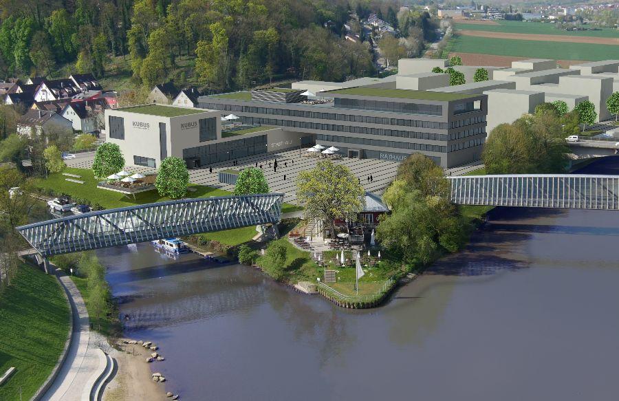 Neue Mitte Remseck am Neckar, Rathausareal, Entwurf: HHL Architekten Ludwigsburg