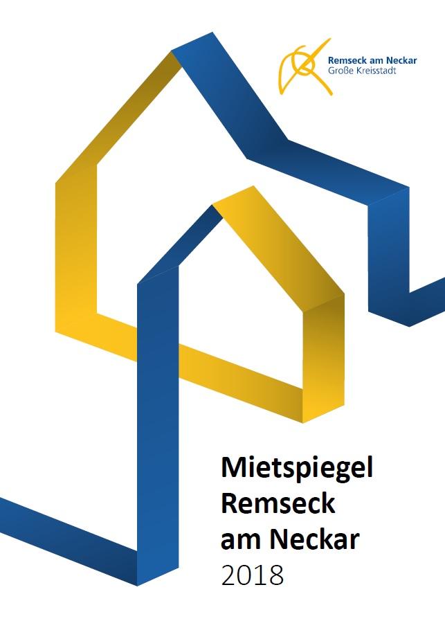 Titelseite des Mietspiegels 2018 der Stadt Remseck am Neckar