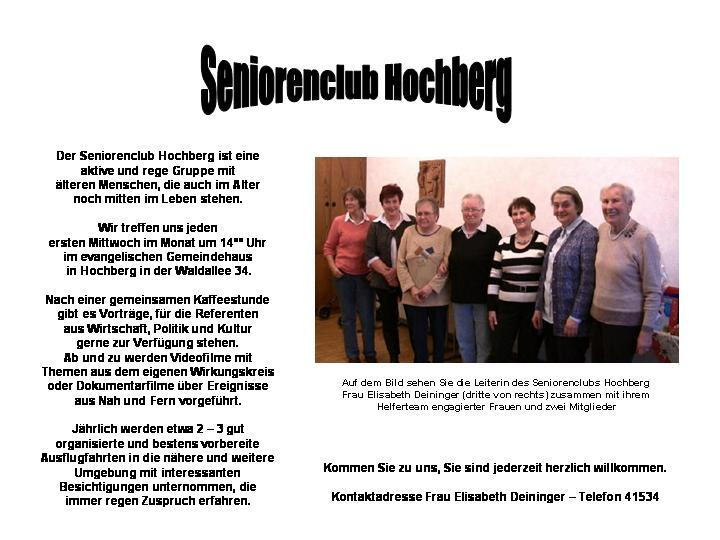 Seniorenclub Hochberg