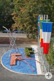 Haus der Feuerwehr Skulptur