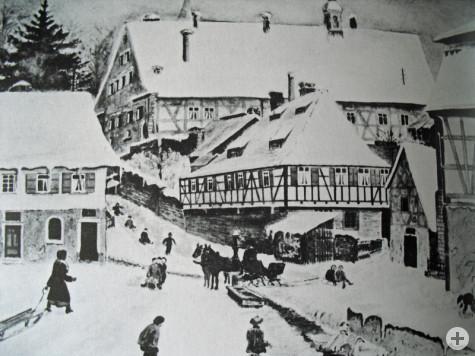 Aquarell Hochdorf Wilhelmsplatz