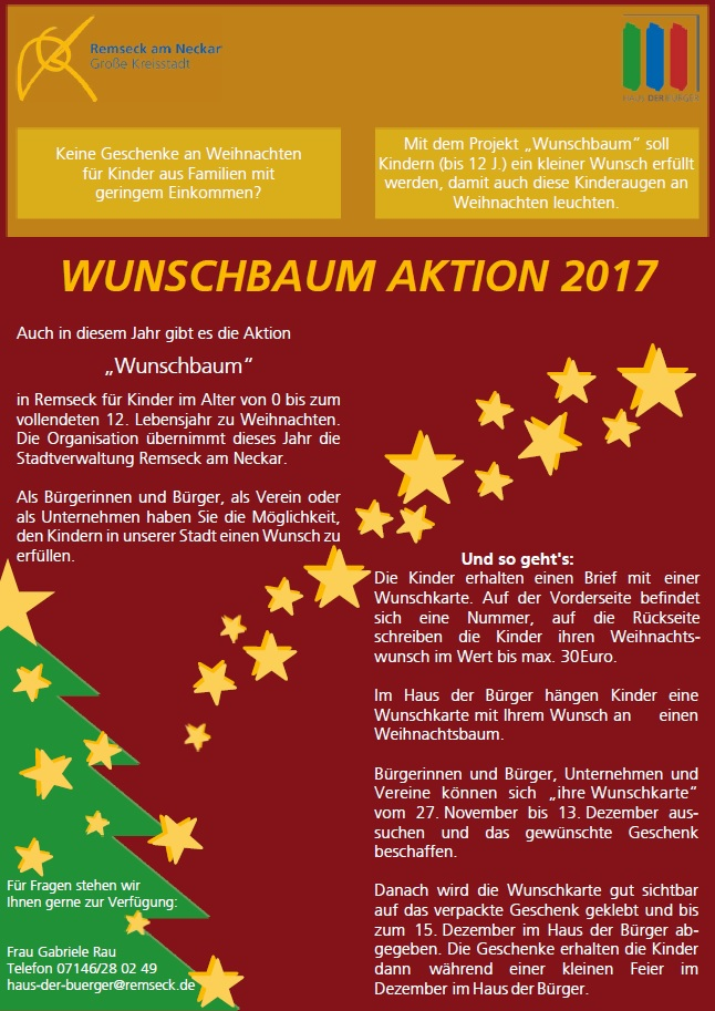 Flyer Aktion »Wunschbaum« 2017