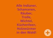 Alle in den Wald_ Postkarte