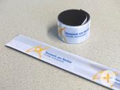 Reflektor-Schnappbänder mit Remseck-Logo