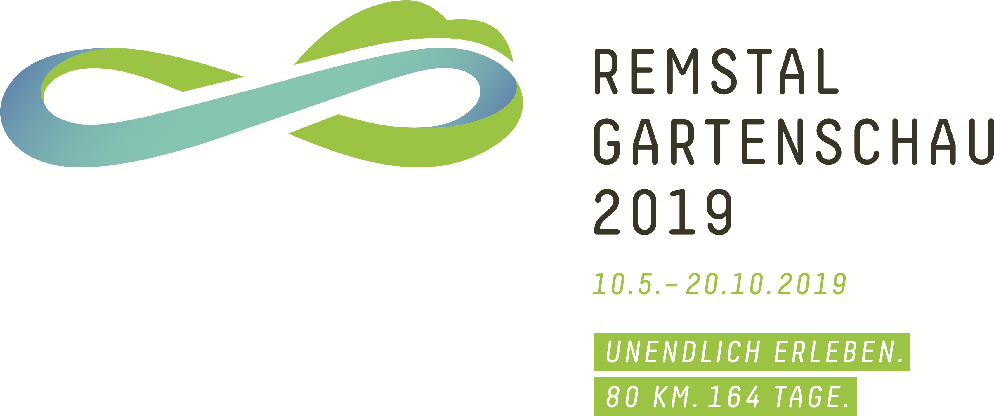 Logo Remstal Gartenschau 2019 Datum Claim