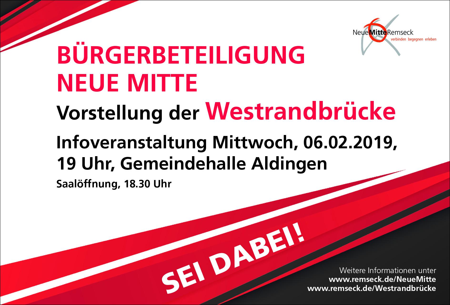 Plakat Vorstellung Westrandbrücke 06.02.2019