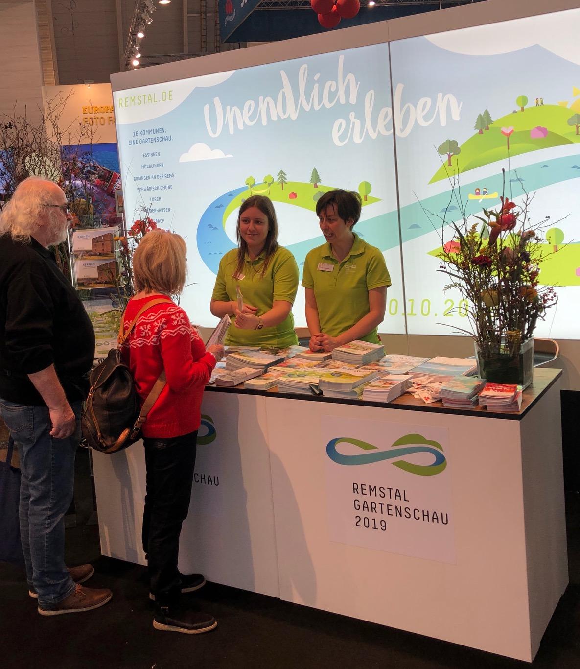 Die Stadt Remseck am Neckar präsentierte sich auf der CMT 2019 am Stand der Remstal Gartenschau 2019. Foto: Stadt Remseck am Neckar