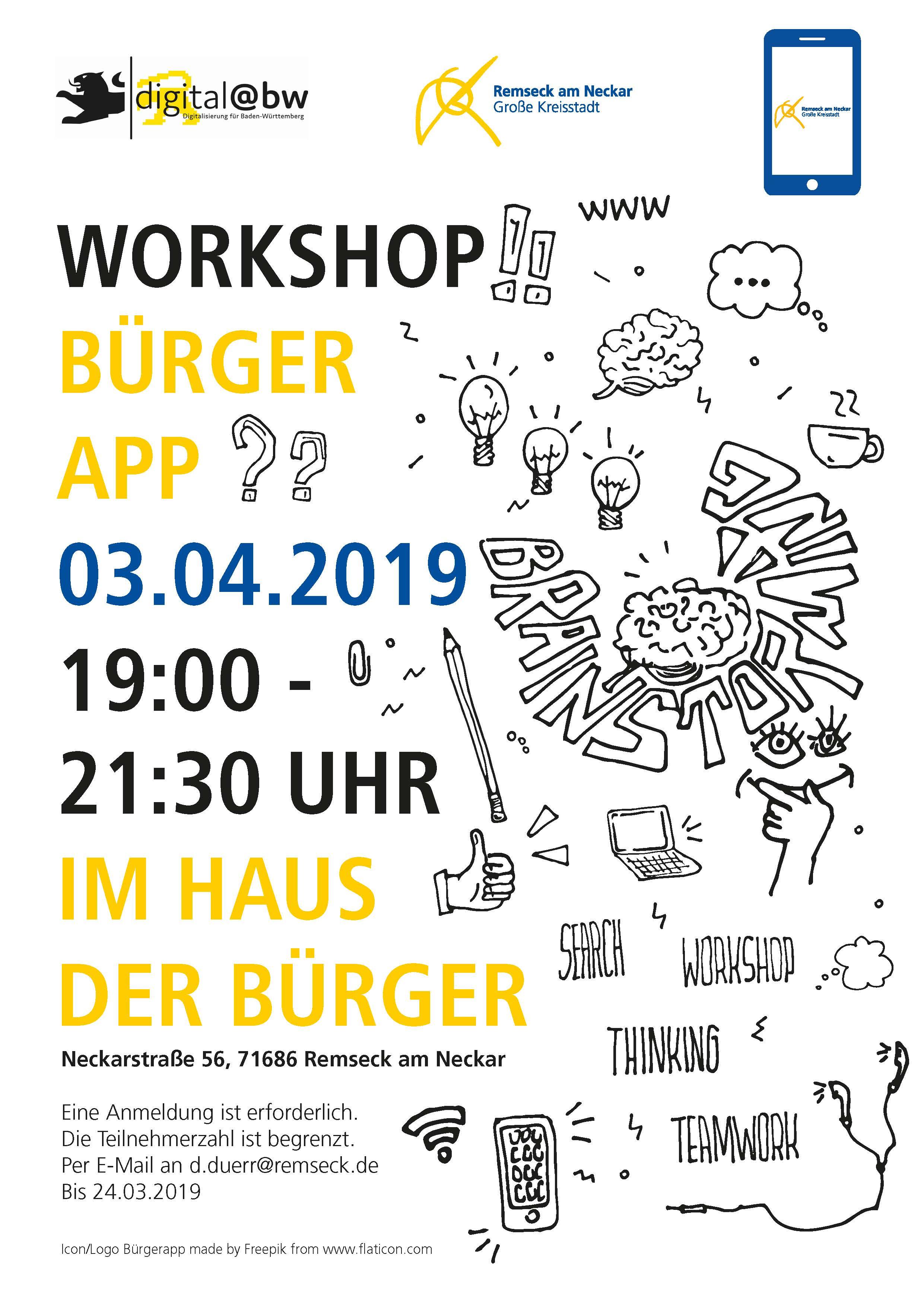 Workshop Bürger-App am 3.4.2019 | Stadt Remseck am Neckar