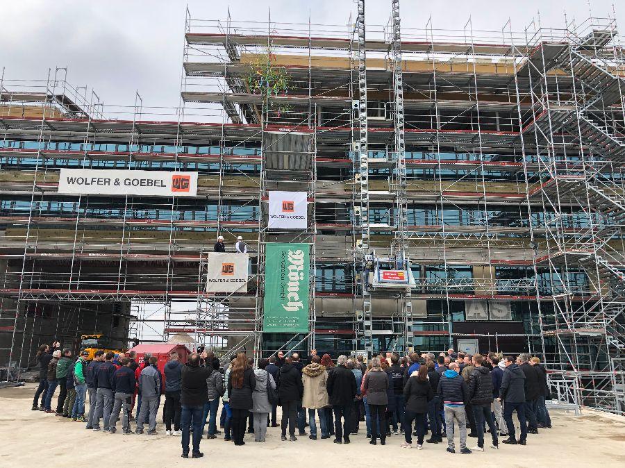 Richtfest zum Neubau Rathaus, Stadthalle, Kubus | Foto: Stadt Remseck am Neckar