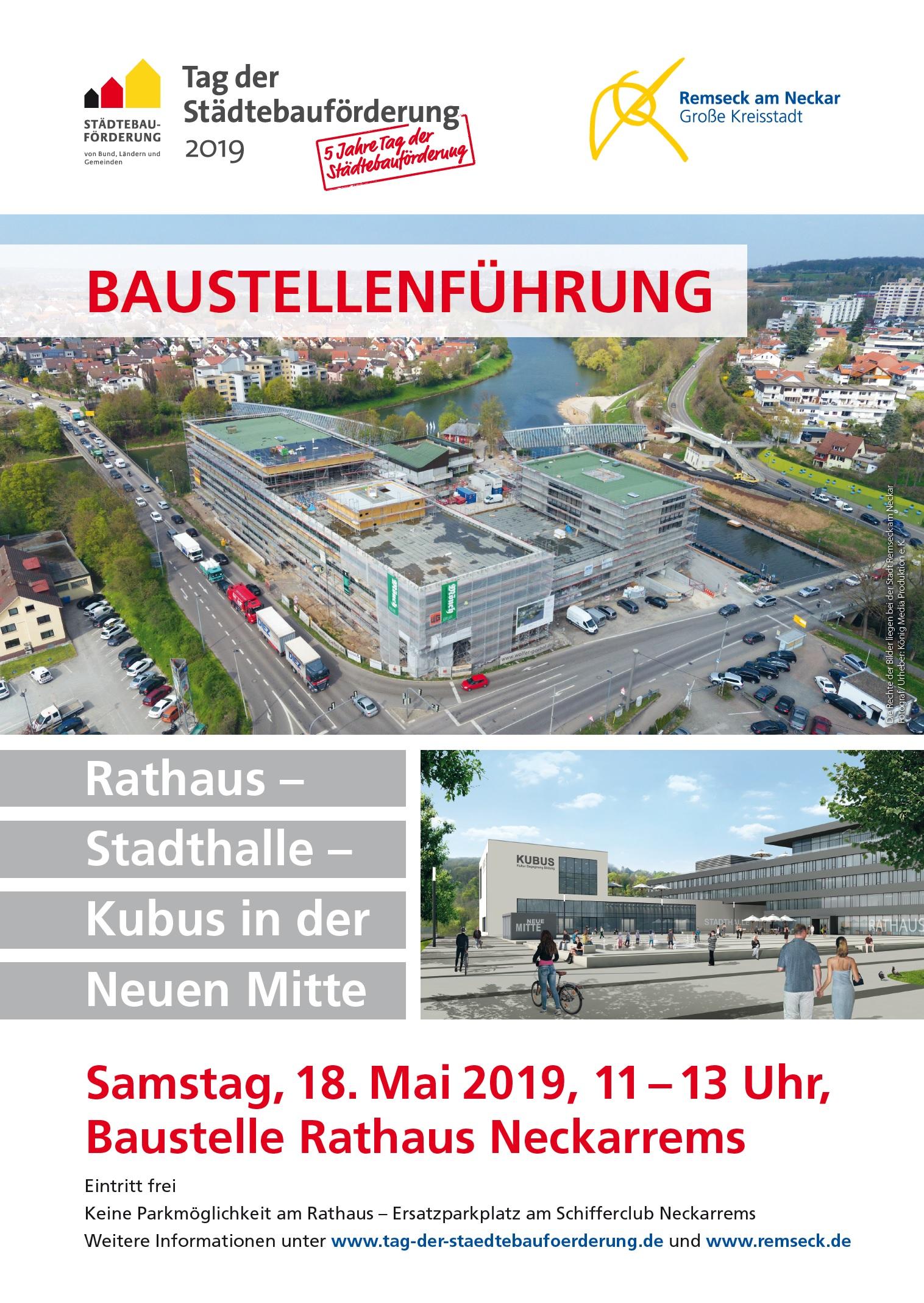 Plakat zum Tag der Städtebauförderung 2019   Stadt Remseck am Neckar
