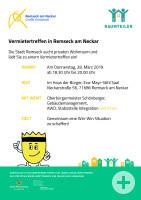 Plakat Vermietertreffen am 28.3.2019 | Stadt Remseck am Neckar