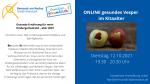 Gesunde Ernährung für mein Kindergartenkind – aber WIE? am 12.10.2021, 19:30 Uhr