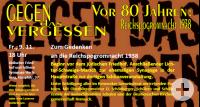 Gegen das Vergessen | Reichspogromnacht 1938