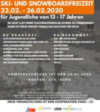 Plakat Skifreizeit 2020