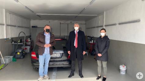 Taxi Bleile Mietwagenservice und Kfz-Mietwerkstatt: Besuch von Oberbürgermeister Dirk Schönberger und Wirtschaftsförderin Susanne Nicolaus