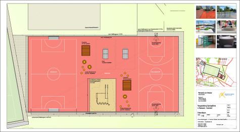Entwurfsplan Neugestaltung Jugend- und Freizeitgelände Hochdorf