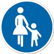 Schild Fußweg