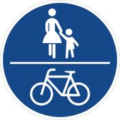 Schild gemeinsamer Fuß- und Radweg