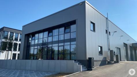 Unternehmensbesuch Eddie Bässler Bauunternehmen GmbH: Gebäude am neuen Standort von Außen