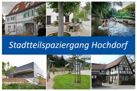 Postkarte Stadtteilspaziergang Hochdorf