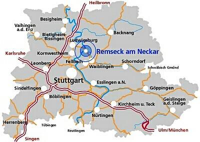 Heilbronn Karte Stadtplan.Stadt Remseck Am Neckar Rathaus Neckarrems