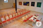 In der Alten Gemeindehalle Hochberg gibt es bis zu 80 Sitzplätze.