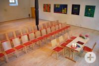 In der Alten Gemeindehalle Hochberg gibt es bis zu 130 Sitzplätze.
