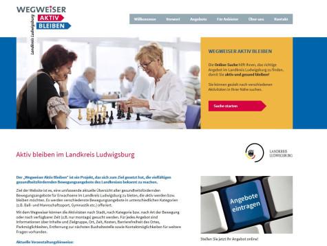 Homepage Wegweiser Aktiv Bleiben