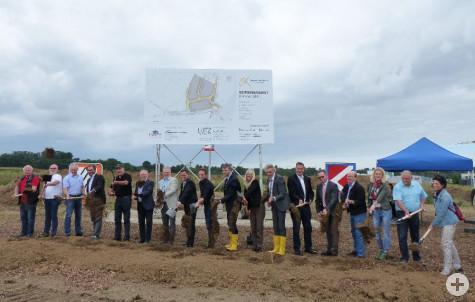Gewerbegebiet Rainwiesen II - 2. Planungsabschnitt: Spatenstich am 28.7.2017