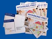 """Mit diesen Postkarten fragt die Stadt Remseck am Neckar: """"Wohnung frei?"""""""