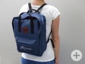 Ein praktischer Begleiter für alle Lebenslagen ist der dunkelblaue Remseck-Rucksack.