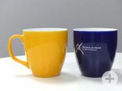 Die gelbe oder blaue Remseck-Tasse fasst stolze 440 ml.