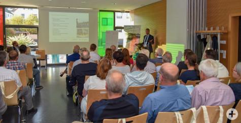 Großes Interesse an den Sponsoringmöglichkeiten zur Remstal Gartenschau 2019 bei der Infoveranstaltung am Montag. Foto: Horst Ettensberger