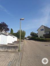 Vor dem Austausch der Straßenbeleuchtung (Beispiel hier: Kernerstraße)