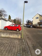 Nach dem Austausch der Straßenbeleuchtung (Beispiel hier: Kernerstraße)