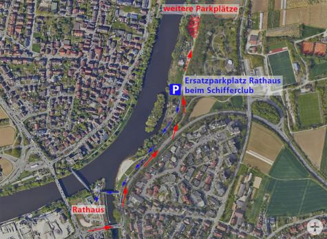 Rathaus-Ersatzparkplatz beim Schifferclub | Stadt Remseck am Neckar