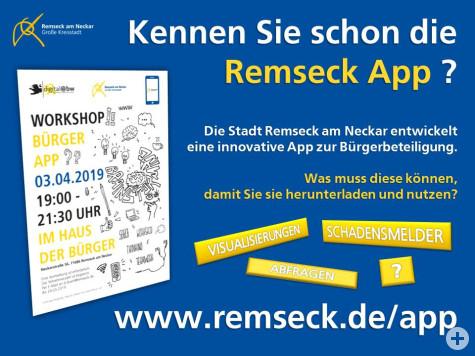 Kennen Sie schon die Remseck App?