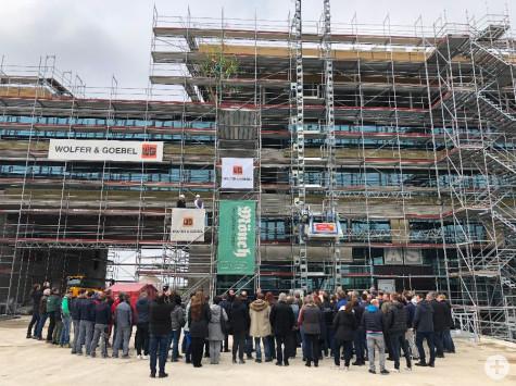 Richtfest zum Neubau Rathaus, Stadthalle, Kubus   Foto: Stadt Remseck am Neckar