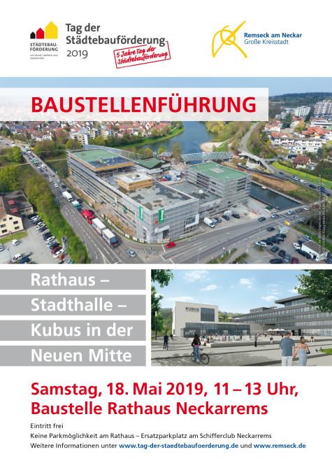 Plakat zum Tag der Städtebauförderung 2019 | Stadt Remseck am Neckar