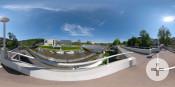 Neubau Rathaus, Stadthalle, Kubus