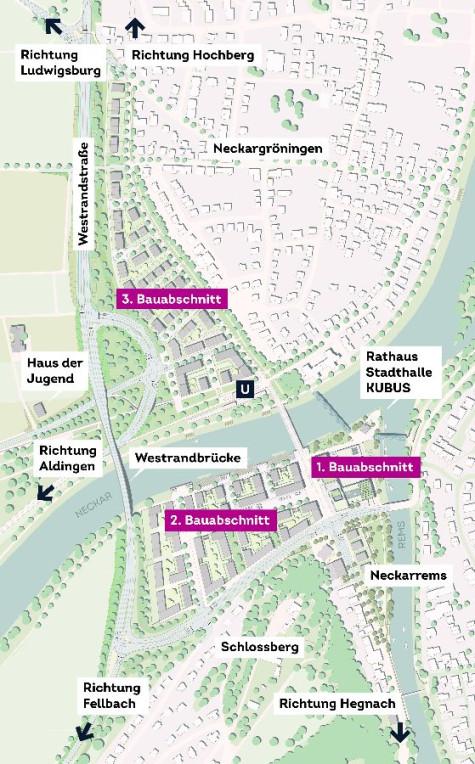 Lageplan Westrandbrücke